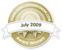 July 2009 Reseller Web Hosting Award