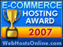 Voted top e-commerce web hosting provider by the online WebHostsOnline website.