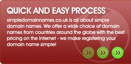 We make registering your domain name simple!