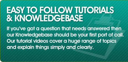 Easy to follow tutorials & knowledgebase