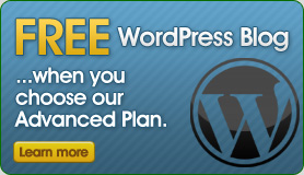 FREE WordPress Blog - when you choose our Advanced Plan!