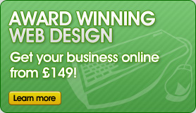 Award winning web design - Get your business online from £149!