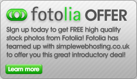 Fotolia is a leader in the Royalty Free Stock Photography industry has teamed up with simplewebhosting.co.uk to offer you a great introductory offer!