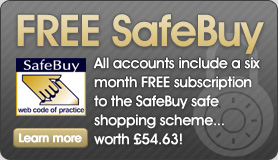 FREE 6 month subscription to the SafeBuy accrediation scheme for all simplewebhosting.co.uk customers