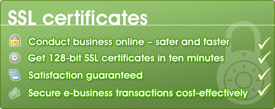 SSL certificates - conduct business online - safer and faster